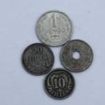 Ungarske mønter, fundet i en skraldespand i Nørre Bork i Vestjylland, sommeren 1945.