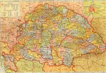 Magyarország Politikai Térképe 1941