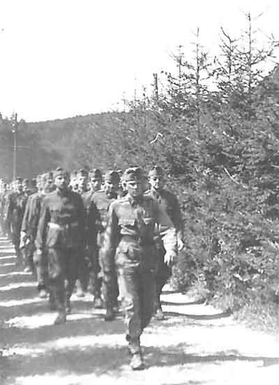 På march
