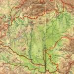 Ungarsk landkort fra 1944