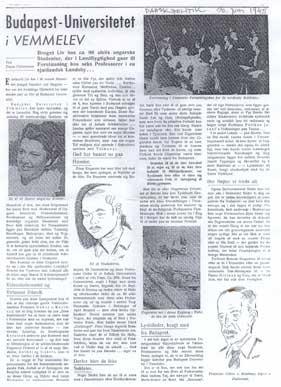 Reportagen om den ungarske arkitektskole bragtes  i bladet Dansk Politik den 30. juni 1945